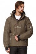 Оптом Куртка горнолыжная мужская хаки цвета 1788Kh
