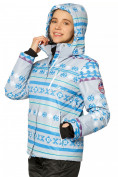 Оптом Куртка горнолыжная женская серого цвета 1795Sr, фото 4