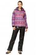 Оптом Костюм горнолыжный женский фиолетового цвета 01795F
