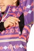 Оптом Костюм горнолыжный женский фиолетового цвета 01795F в Казани, фото 6