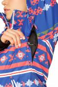 Оптом Костюм горнолыжный женский синего цвета 01795S в Казани, фото 6
