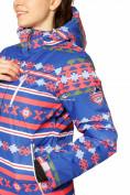 Оптом Костюм горнолыжный женский синего цвета 01795S в Казани, фото 9