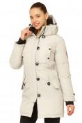 Оптом Куртка парка зимняя женская бежевого цвета 1802B, фото 3
