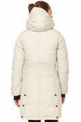 Оптом Куртка парка зимняя женская бежевого цвета 1802B, фото 4