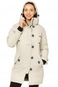 Оптом Куртка парка зимняя женская бежевого цвета 1802B, фото 6
