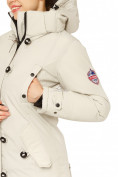 Оптом Куртка парка зимняя женская бежевого цвета 1802B, фото 7