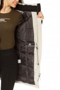 Оптом Куртка парка зимняя женская бежевого цвета 1802B, фото 9