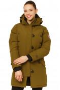 Оптом Куртка парка зимняя женская цвета хаки 1802Kh в Екатеринбурге, фото 2