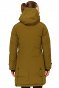 Оптом Куртка парка зимняя женская цвета хаки 1802Kh в Екатеринбурге, фото 4