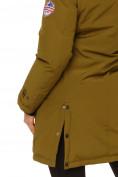 Оптом Куртка парка зимняя женская цвета хаки 1802Kh, фото 5