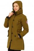Оптом Куртка парка зимняя женская цвета хаки 1802Kh в Екатеринбурге, фото 6