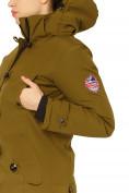 Оптом Куртка парка зимняя женская цвета хаки 1802Kh, фото 7