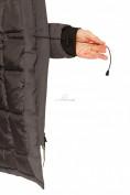 Оптом Куртка парка зимняя женская темно-серого цвета 1802TC в Казани, фото 8