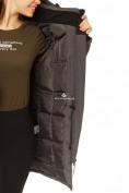 Оптом Куртка парка зимняя женская темно-серого цвета 1802TC в Казани, фото 9