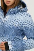 Оптом Костюм горнолыжный женский синего цвета 01803S, фото 6