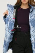 Оптом Костюм горнолыжный женский синего цвета 01803S, фото 7