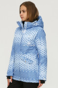 Оптом Куртка горнолыжная женская голубого цвета 1810Gl, фото 2