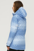 Оптом Куртка горнолыжная женская голубого цвета 1810Gl, фото 3