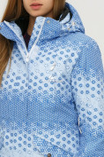 Оптом Куртка горнолыжная женская голубого цвета 1810Gl, фото 6