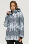Оптом Куртка горнолыжная женская серого цвета 1803Sr в  Красноярске