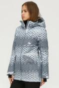 Оптом Куртка горнолыжная женская серого цвета 1803Sr в  Красноярске, фото 2