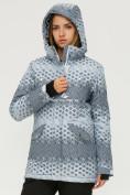 Оптом Куртка горнолыжная женская серого цвета 1803Sr в  Красноярске, фото 5
