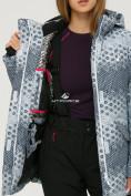 Оптом Куртка горнолыжная женская серого цвета 1803Sr в  Красноярске, фото 7
