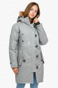 Оптом Куртка парка зимняя женская светло-серого цвета 1805SS в  Красноярске, фото 2