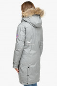 Оптом Куртка парка зимняя женская светло-серого цвета 1805SS в  Красноярске, фото 5