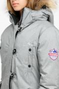 Оптом Куртка парка зимняя женская светло-серого цвета 1805SS, фото 6