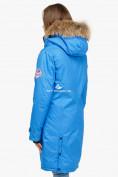 Оптом Куртка парка зимняя женская синего цвета 1805S в Казани, фото 5