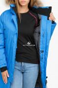 Оптом Куртка парка зимняя женская синего цвета 1805S в Казани, фото 7