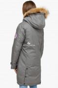 Оптом Куртка парка зимняя женская серого цвета 1805Sr в Нижнем Новгороде, фото 4