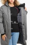 Оптом Куртка парка зимняя женская серого цвета 1805Sr в Нижнем Новгороде, фото 6