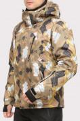 Оптом Костюм горнолыжный мужской коричневого цвета 018108K в Казани, фото 3