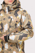 Оптом Костюм горнолыжный мужской коричневого цвета 018108K в Казани, фото 6