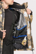 Оптом Костюм горнолыжный мужской коричневого цвета 018108K в Казани, фото 7