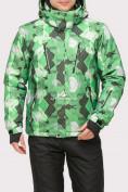 Оптом Куртка горнолыжная мужская зеленого цвета 18108Z