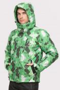 Оптом Куртка горнолыжная мужская зеленого цвета 18108Z, фото 3
