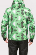 Оптом Куртка горнолыжная мужская зеленого цвета 18108Z в  Красноярске, фото 4