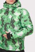 Оптом Куртка горнолыжная мужская зеленого цвета 18108Z, фото 5