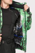 Оптом Куртка горнолыжная мужская зеленого цвета 18108Z в  Красноярске, фото 6