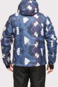 Оптом Куртка горнолыжная мужская темно-синего цвета 18108TS в  Красноярске, фото 4