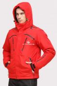 Оптом Куртка горнолыжная мужская красного цвета 18109Kr в Екатеринбурге, фото 3