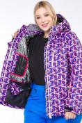 Оптом Куртка горнолыжная женская большого размера фиолетового цвета 18112F в  Красноярске, фото 8