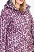 Оптом Костюм горнолыжный женский большого размера малинового цвета 018112М в  Красноярске, фото 10