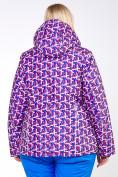 Оптом Куртка горнолыжная женская большого размера фиолетового цвета 18112F в  Красноярске, фото 4