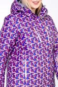 Оптом Куртка горнолыжная женская большого размера фиолетового цвета 18112F в  Красноярске, фото 7