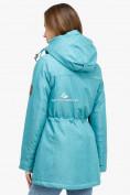 Оптом Куртка парка зимняя женская бирюзового цвета 18113Br в Казани, фото 3