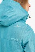 Оптом Куртка парка зимняя женская бирюзового цвета 18113Br в Казани, фото 5